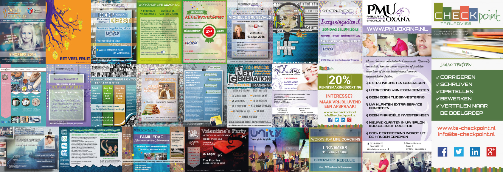 Posters, flyers, banners portfolio